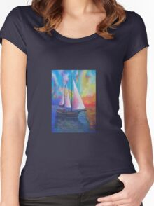 Bodrum Turquoise Coast Gulet Cruise Women's Fitted Scoop T-Shirt