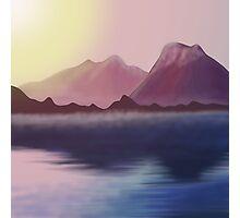 morning lake Photographic Print