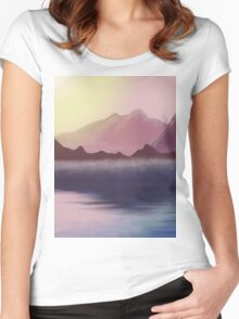 morning lake Women's Fitted Scoop T-Shirt