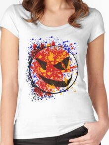 pumpkin splat Women's Fitted Scoop T-Shirt