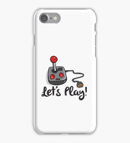 Old School Gaming Joystick - Let's Play iPhone Case/Skin