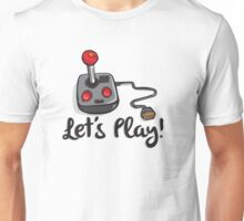Old School Gaming Joystick - Let's Play Unisex T-Shirt