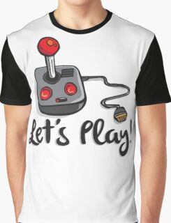 Old School Gaming Joystick - Let's Play Graphic T-Shirt