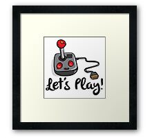 Old School Gaming Joystick - Let's Play Framed Print