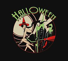 Halloween Witch Flying (vintage) Unisex T-Shirt