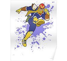 Captain Falcon - Super Smash Bros Poster