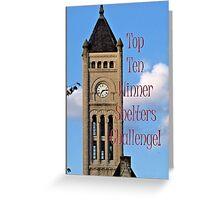 Banner - Shelters - Top Ten Winner Greeting Card
