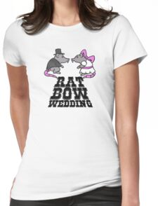rat, wedding, bow Womens Fitted T-Shirt
