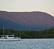 Sun setting on Trinity Inlet, Cairns by Tim Eckert
