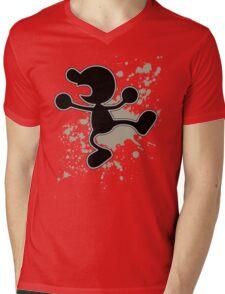 Mr Game and Watch - Super Smash Bros Mens V-Neck T-Shirt