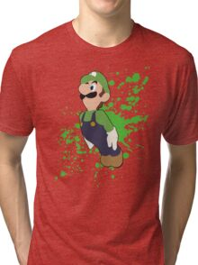 Luigi - Super Smash Bros Tri-blend T-Shirt