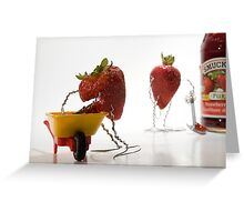 Where Strawberry Jam Comes From Greeting Card