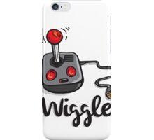 Old school gamer joystick - wiggle it! iPhone Case/Skin