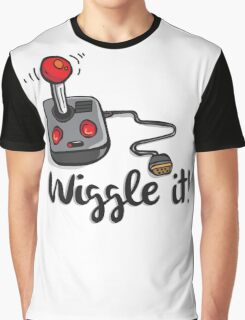 Old school gamer joystick - wiggle it! Graphic T-Shirt