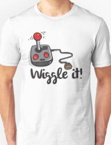 Old school gamer joystick - wiggle it! Unisex T-Shirt