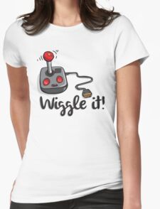 Old school gamer joystick - wiggle it! Womens Fitted T-Shirt
