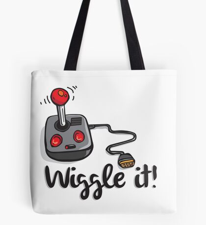 Old school gamer joystick - wiggle it! Tote Bag