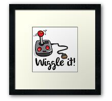 Old school gamer joystick - wiggle it! Framed Print