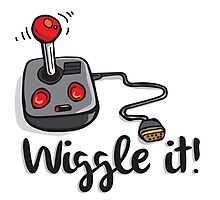 Old school gamer joystick - wiggle it! Photographic Print
