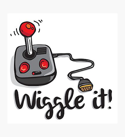 Old school gamer joystick - wiggle it! Photographic Print