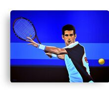 Novak Djokovic painting Canvas Print