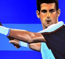 Novak Djokovic painting Sticker