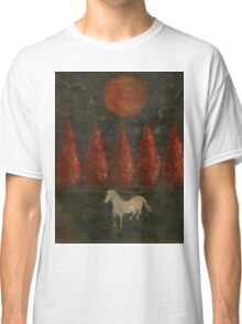 Pony And Tree And Moon Classic T-Shirt