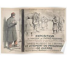 Exposition de tableaux de maîtres modernes vente au profit de loeuvre le vêtement du prisonnier de guerre Galerie Georges Bernheim Poster