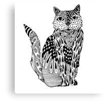 Cat Zentangle Canvas Print
