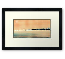 sailing the wind at sunset Framed Print