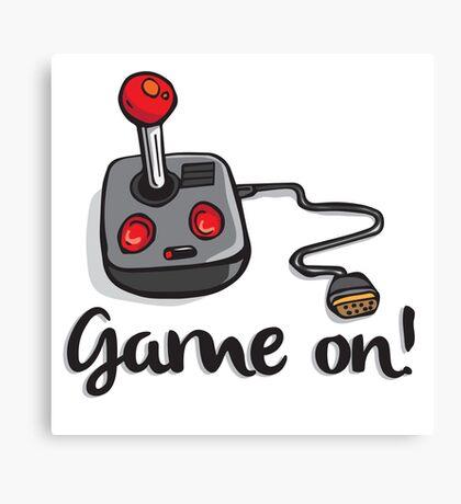 Game on! - Old school 80's computer Joystick Canvas Print