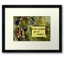 The Word Grew and Multiplied ~ Acts 12:24 Framed Print