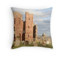 Holy Island. Throw Pillow