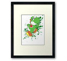 Yoshi - Super Smash Bros  Framed Print