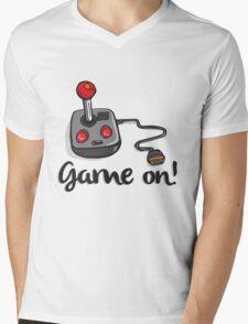 Game on! - Old school 80's computer Joystick Mens V-Neck T-Shirt