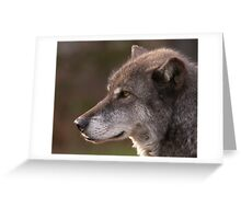 Profile of a Wolf Greeting Card