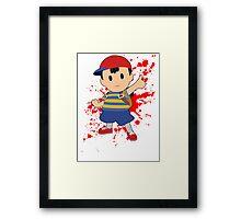 Ness - Super Smash Bros Framed Print