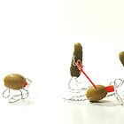 Stuffed Olive Assembly Line by Ian Thomas