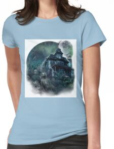The Haunted House Paranormal Womens Fitted T-Shirt