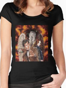Matt Smith ; The Time of Angels Women's Fitted Scoop T-Shirt