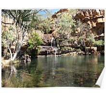 Water hole of Galvan's Gorge, Kimberley Poster