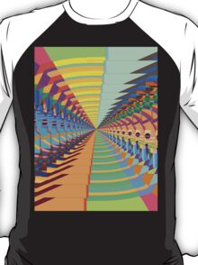 Abstract / Psychedelic Tunnel of Colorful Shapes T-Shirt
