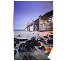 Golden Gate Star Night Poster
