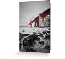 Golden Gate Star Night B&W Greeting Card
