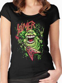 SLIMER THRASHIN' MAD!!! Women's Fitted Scoop T-Shirt