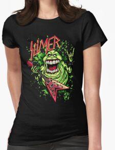 SLIMER THRASHIN' MAD!!! Womens Fitted T-Shirt