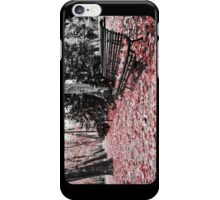 Red Bench iPhone Case/Skin