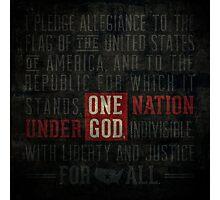 The Pledge of Allegiance Photographic Print