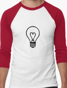bulb heart electrician ampoule idea Men's Baseball ¾ T-Shirt