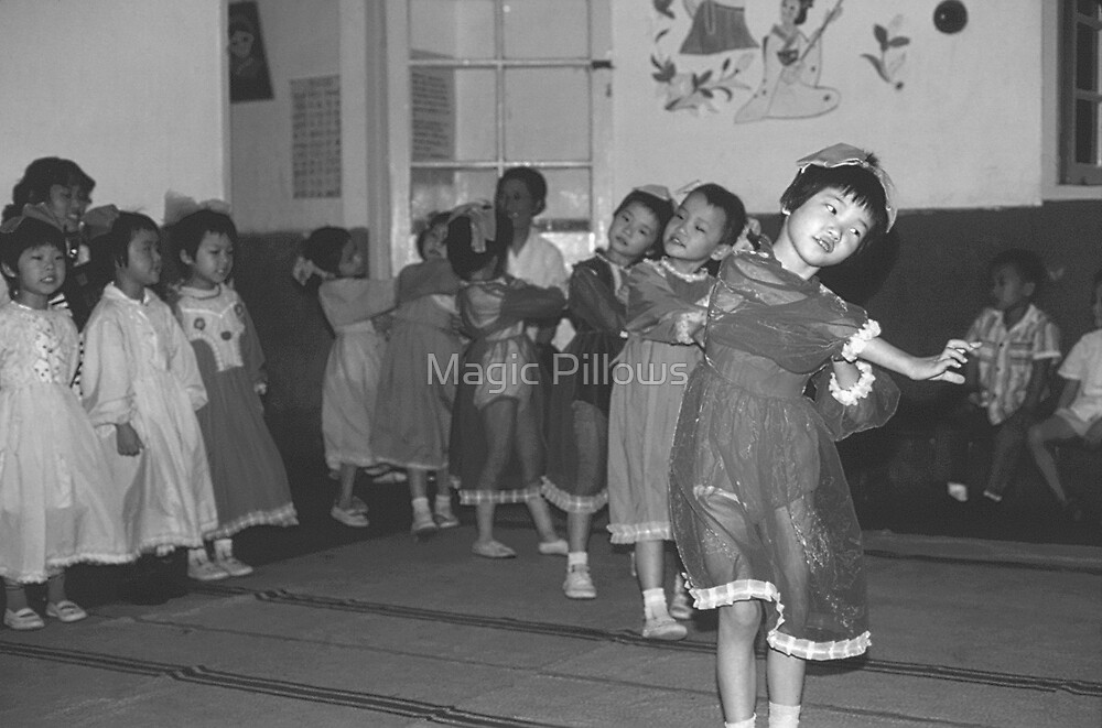 BW China Shanghai child care 1970s by blackwhitephoto